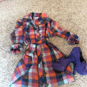 Vintage Gingham dream button dress